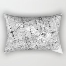 Toronto White Map Rectangular Pillow