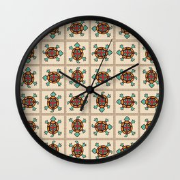 Native american pattern Wall Clock