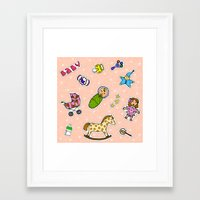 stickers Framed Art Prints featuring For Mommy stickers by Lisidza's art