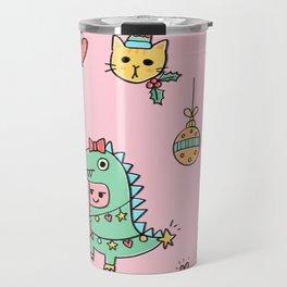 Christmas Dino & Friends Travel Mug