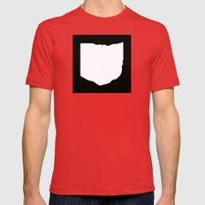O-H-I-O Mens Fitted Tee Red SMALL