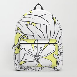 Flower Meadow Yellow Backpack