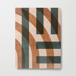 ABSTRACT ALPHABET / Decorative H Metal Print