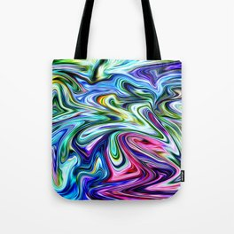 Electric Blues Tote Bag