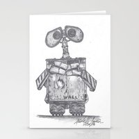 wall e Stationery Cards featuring Wall E by Michelle Zombie