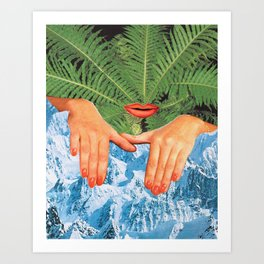 Touch Cold Art Print