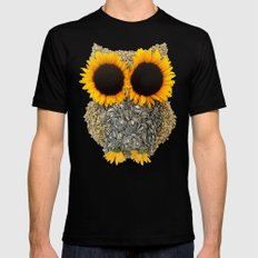 Hoot! Day Owl! MEDIUM Mens Fitted Tee Black