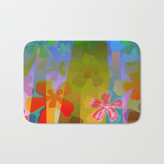 Flowers in the City Bath Mat