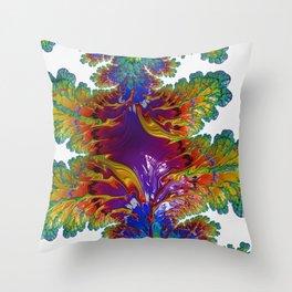 Fractal Ice Prism Throw Pillow
