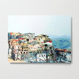 Catanzaro: view of the historic center Metal Print