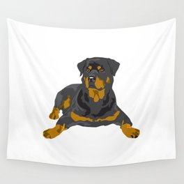 Hottweiler dog Wall Tapestry