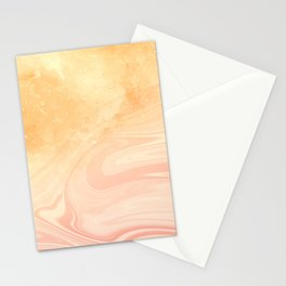 Red marble with gold overflow Stationery Cards