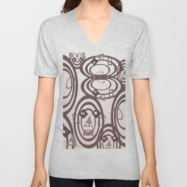 Hollow Face Unisex V-Neck
