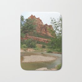 Temple of Sinawava And Virgin River Bath Mat