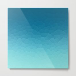 Stained glass gradient art Metal Print