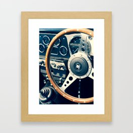 Old Triumph Wheel / Classic Cars Photography Framed Art Print