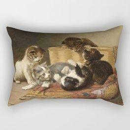 cute kitten 4 – John henry Dolph – playing kittens -pet,whikers,cat,kitty,kitten Rectangular Pillow