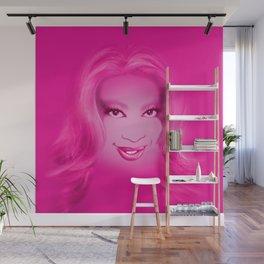 Keisha D in Pink Wall Mural