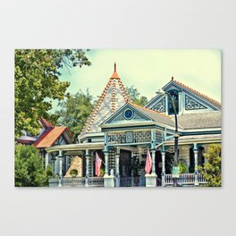American Victorian House Canvas Print