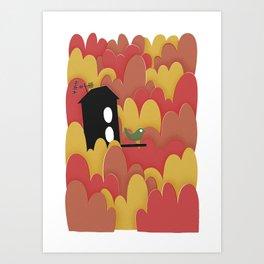 Birdhouse n.2 Art Print