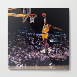 Afro Bryant Dunk Show Metal Print
