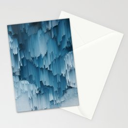 Abstract Glitch Pixel Art 707 Stationery Cards
