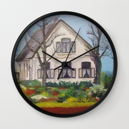 Tulip Cottage Wall Clock