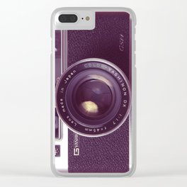 #04_Yashica electro 35#pink#film#effect Clear iPhone Case