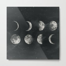 Moon Phase Metal Print