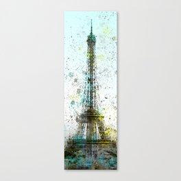 Modern Art Eiffel Tower Splashes No.2 | Panorama Canvas Print