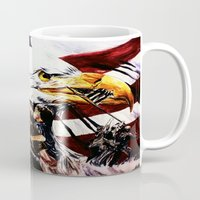 patriotic Mugs featuring PATRIOTIC TIMES by PERRY DAEZIOUH