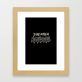 DREAMER #1 #typo #drawing #decor #art #society6 Framed Art Print