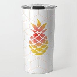 Pineapple Geometric Art Travel Mug