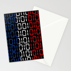 digital Flag (France) Stationery Cards