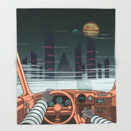 Night driver Throw Blanket