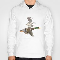 ducks Hoodies featuring Flying Ducks by smoothimages
