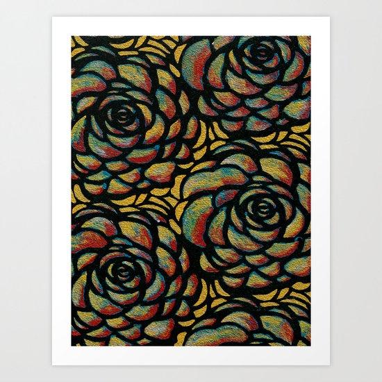Flowers too Art Print