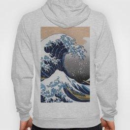 "Hokusai , "" The Great Wave off Kanagawa "" Hoody"