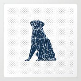 Faceted Dog - Labrador Art Print
