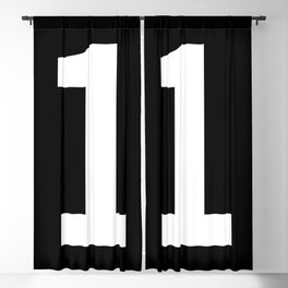 Number 1 (White & Black) Blackout Curtain