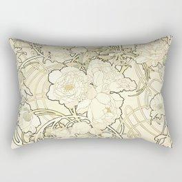 "Alphonse Mucha ""Peonies"" Rectangular Pillow"