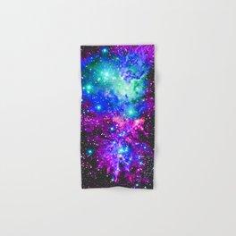 Fox Fur Nebula Galaxy Pink Purple Blue Hand & Bath Towel