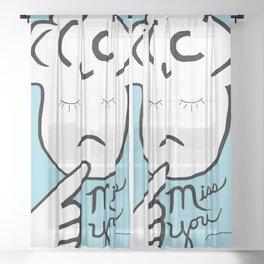 ASL Miss You Sheer Curtain
