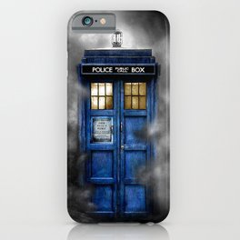 Haunted Halloween Blue phone Box iPhone 4 4s 5 5c 6, pillow case, mugs and tshirt iPhone Case