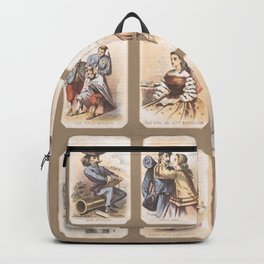 Vintage Print - Set of Prints from Life in Camp, an Account of the Civil War (1864) Backpack