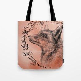 Fox & Wreath Tote Bag