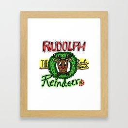 Rudolph the Reindeer Framed Art Print