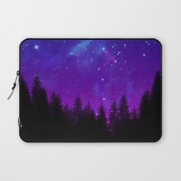 Galaxy Over the Forest at Night Laptop Sleeve
