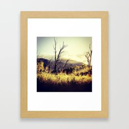 so long, sunday. Framed Art Print