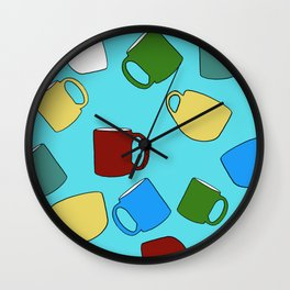 Coffee Mugs! Wall Clock